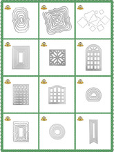 New Cutting Dies 2019 Frame Square Background Die Scrapbooking Metal Cutting Die Cuts For Card Making paper craft Dies square shape metal cutting die for card gift
