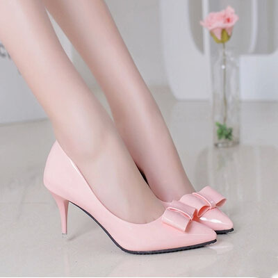 Popular Pink Bow Shoes Heels-Buy Cheap Pink Bow Shoes Heels lots