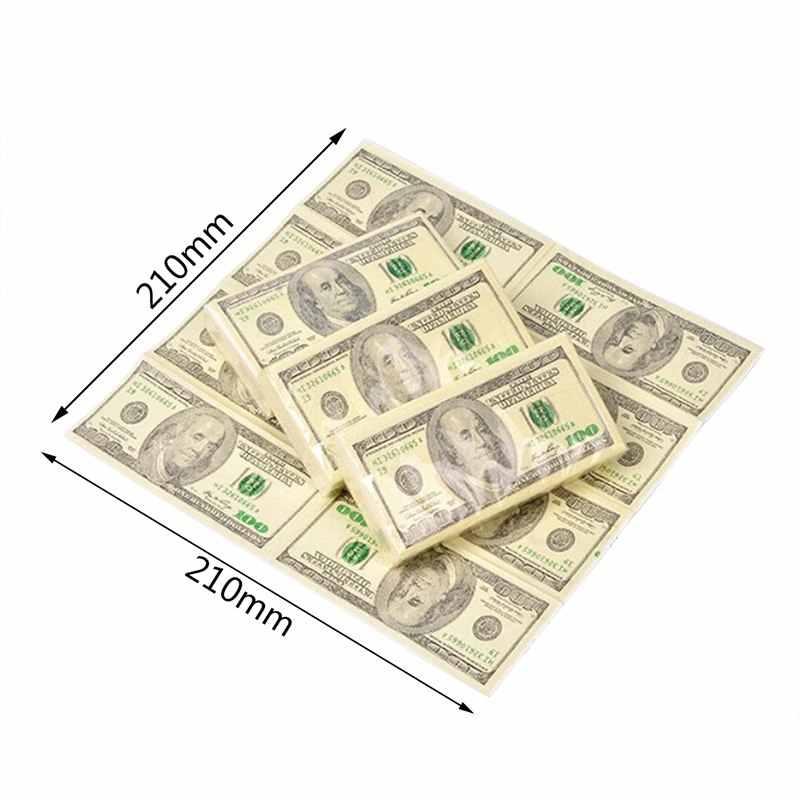 Мягкие для печати чеков и счетов доллар $100 купюр карманные салфетки из шелковистой бумаги Шутка Подарок 4 июля вечерние казино Новинка Забавный подарок