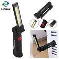 Складной Гибкий ручной фонарь для работы  магнитная инспекционная лампа  фонарик  встроенный аккумулятор  usb-порт для зарядки