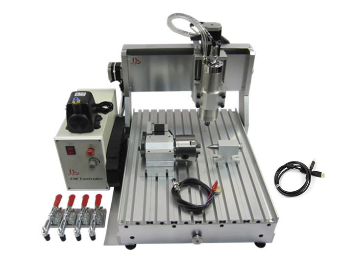 3040 800w water cooled cnc milling machine, 4 axis engraving machine with USB PORT for for wood, metal, aluminum metal engraving machine 3040 engraver 800w cnc machine to eu country free tax