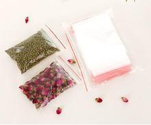 200PCS/set 13*9cm Plastic Waterproof Clear Self Sealing bag Zipper Zip lock Jewelry food Packing Bag Gift Packaging Bags