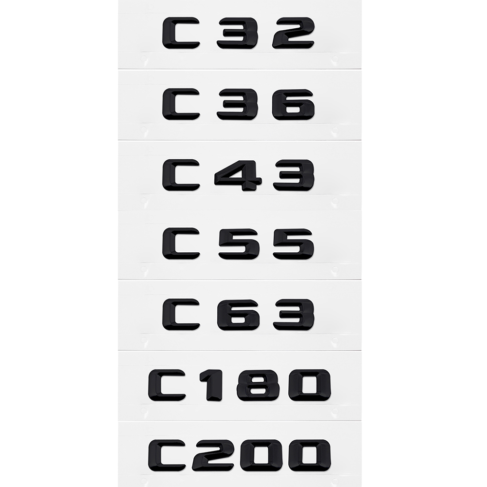 Plastic Metal Trunk Lid Sticker For Benz AMG W204 W210