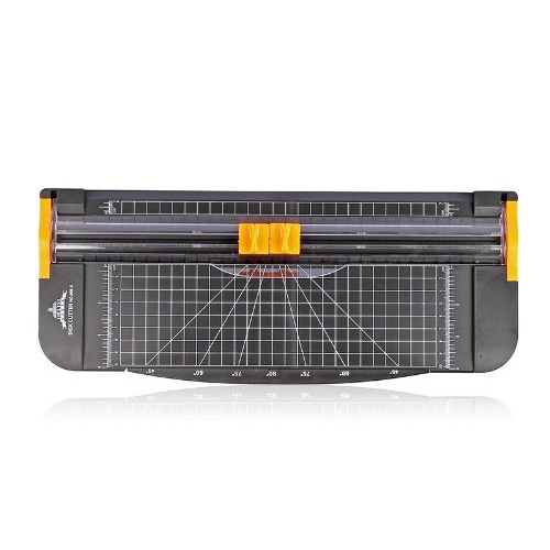 JIELISI 12 Inch A4 Paper Cutter Trimmer Black-Orange With Multi-function *Automatic Security Safeguard When Cutting*
