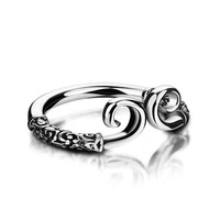 Great Personality Design Restoring Ancient Ways Thai Silver Ring Women Fashion Solid 925 Sterling Silver Ring