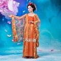 Traje chino de la Mujer Elegante Naranja Paillette Traje de China Tang traje antiguo traje chino antiguo chinois
