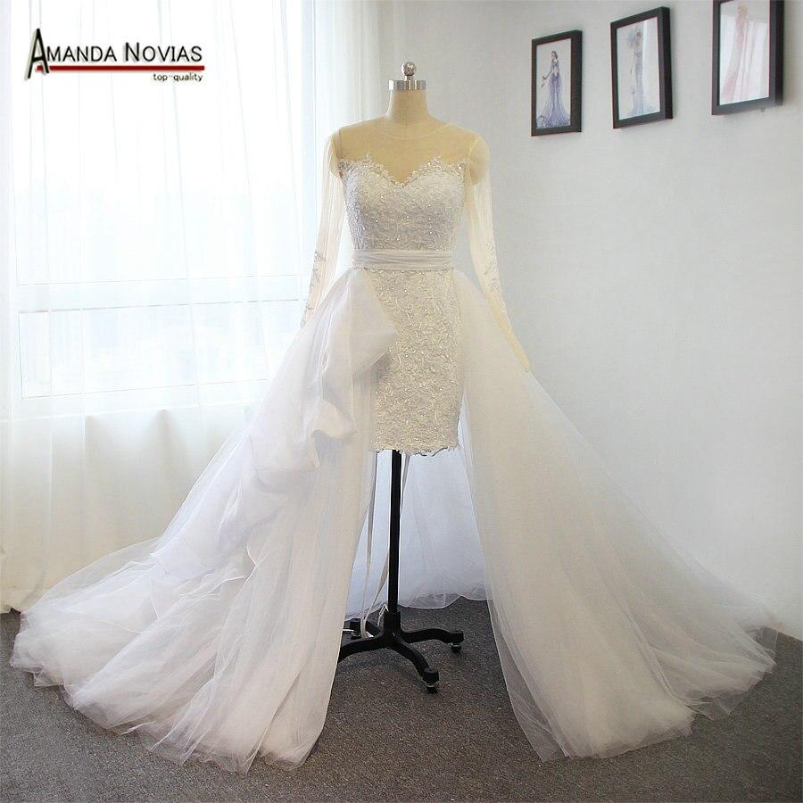 Erstaunliche Sexy Kurze Lange Brautkleider Abnehmbare Brautkleider ...