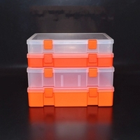 Transparent Plastic Boxes Metal Tools Boxes Of Parts Component Boxes Stationery Bills Box Box Finishing Accessories
