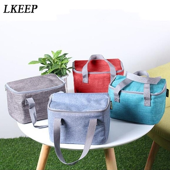 Portable Lunch Bag For Women Kids Men Student Insulation Toiletry Bag Oxford Cloth Aluminum Keep Outdoor Dinner Picnic Lunch Bag фото