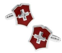 iGame Factory Price Retail Men's Cufflinks Brass Material Cross Design Cuff Links