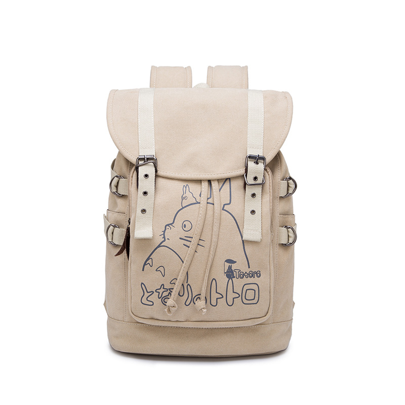 Anime My Neighbor Totoro Cartoon Backpack Student School Canvas Laptop Bag Casual Bag Leisure Rucksack Cosplay Mochila Gifts anime my neighbor totoro printing