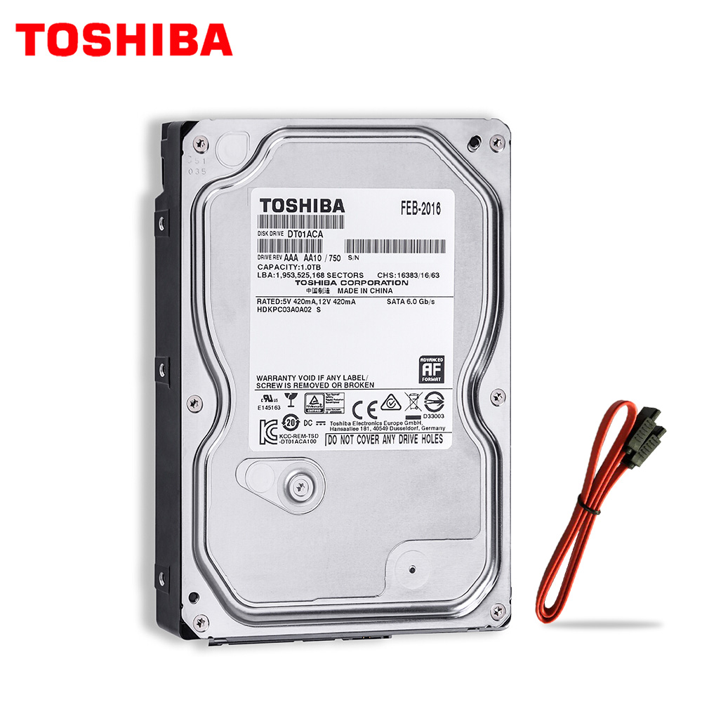 "TOSHIBA 1TB Hard Drive Disk Internal HD HDD 7200 RPM 32 MB Cache 3.5"" SATA 3 for Desktop PC Computer Laptop Internal Hard Drive"