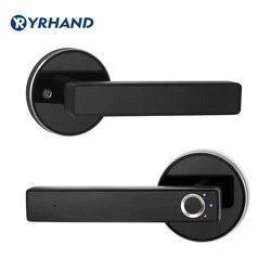 Cerradura biométrica semiconductor de la huella digital inteligente cerradura de la puerta automática de seguridad cerradura electrónica para puerta