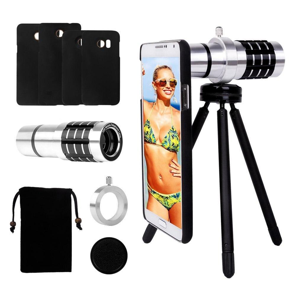 imágenes para Choifoo 12X Óptico Teléfono Celular Lente de La Cámara + Mini Tripod + Universal Del Sostenedor Del Clip para el iphone para Samsung para HTC para Huawei