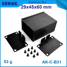4pcs/lot heatsink distribution box smooth surface aluminium cabinet with anodizing 29*46*90mm