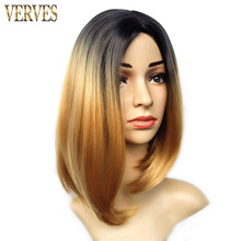 ombre synthetic wigs VERVES bob wigs 6 colors options synthetic short haircut wigs women wigs cosplay with hairnet