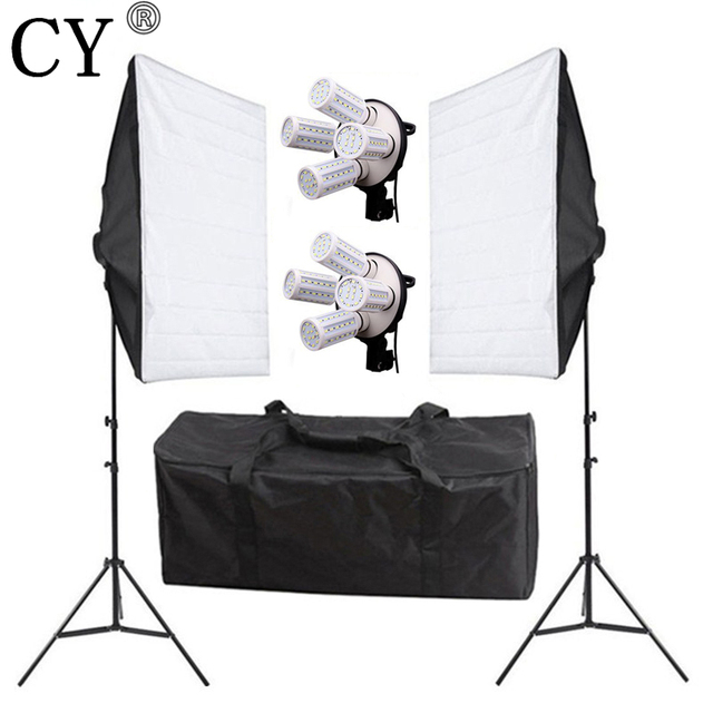 Photo Studio 160W LED Light Box 4 Lamp Holder Photography Continuous Lighting Kits Softbox Lighting Photo Studio Accessories