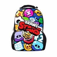 17 Inch Brawl Stars School Backpack Bag Cartoon Bookbag Teenage Boys Girls Large Capacity Travel Knapsack Women Men Laptop Bags