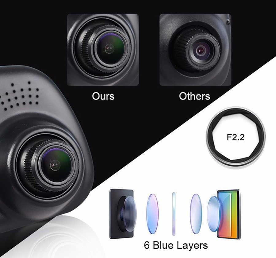 E-ACE DVR Xe Ô Tô 4.3 Inch Full HD 1080P Tự Động Camera Chiếu Hậu Bằng Đầu Ghi Hình Và Camera dashcam Xe Dvrs