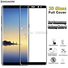 3D Curved Tempered Glass for Samsung Galaxy Note 8 Note8 Screen Protector Full Screen Cover Explosion-proof Front LCD Film explosion proof tempered glass lcd screen protector for samsung i9190 s4 mini transparent