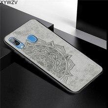 Do Samsung Galaxy A30 przypadku miękkiego silikonu luksusowa tkanina tekstura twarde etui na telefony komórkowe dla Samsung Galaxy A30 pokrywa dla samsung A30