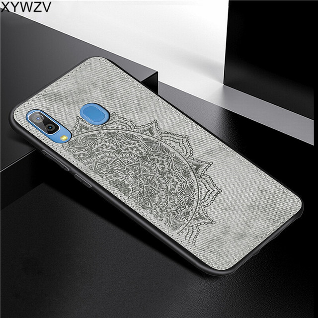 For Samsung Galaxy A30 Case Soft Silicone Luxury Cloth Texture Hard PC Phone Case For Samsung Galaxy A30 Cover For Samsung A30