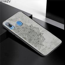 Para Samsung Galaxy Caso A30 Textura De Pano de Luxo Macio Silicone Caso Telefone Rígido de PC Para Samsung Galaxy A30 Capa Para samsung A30