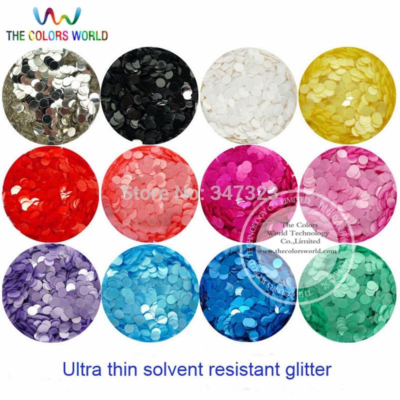 tct 155 round dot pearlescent cores 3mm resistente a solventes glitter unha arte gel escova maquiagem