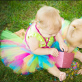 Sweet Candy Rainbow Baby Tutu Skirt Bright Spring Summer Newborn Tutus for Photography Props Infant Birthday Tutu TS062