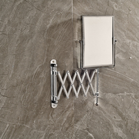 Brand New Wall Mounted Double Side Magnification Mirror For Makeup Bathroom Chrome Cosmetic Mirror