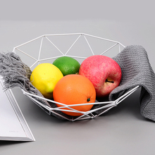 Minimalist Fruit Storage Basket Nordic Creative Snacks Candy Bowl Living Room Drain Home Iron