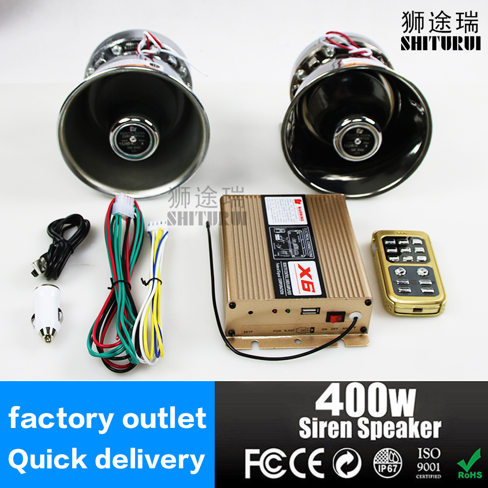 400W Police Sire car MIC Speaker System 12 Sound Loud for Car Warning Alarm Police Fire Siren Horn PA ,horn car alarm amplifier ...