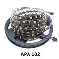 5 m 36/60/96 leds/m APA102 60led/M 5050 RGB Pixel Completo Cor Preta Tira CONDUZIDA Luz CLK DAT 5 V