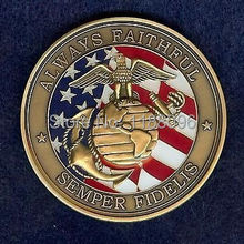 Low price MARINE CORPS OATH OF ENLISTMENT LOGO FLAG  MILITARY CHALLENGE COIN  hot sales usa military coins cheap custom US coins