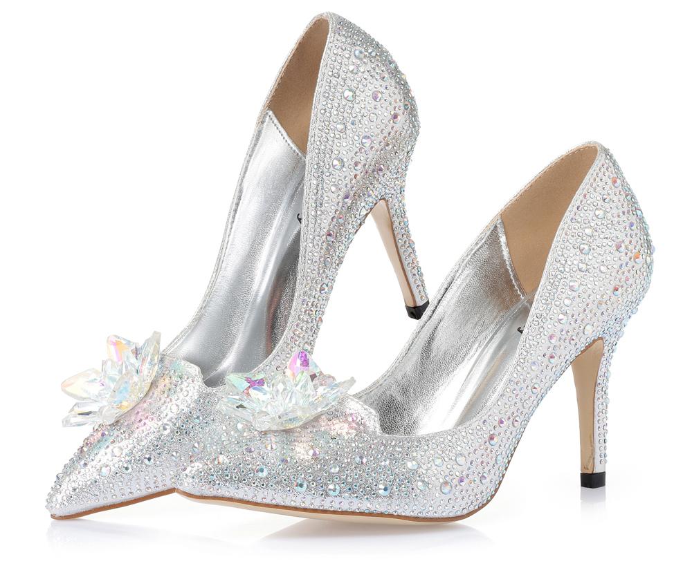 اصبع مضخات الزفاف أحذية 9