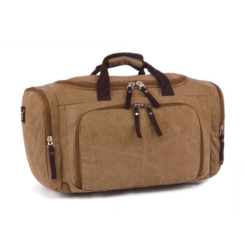 Vintage Canvas Stora Enkla Män Rese Väskor Kvinnor Bagage Rese - Väskor för bagage och resor - Foto 3