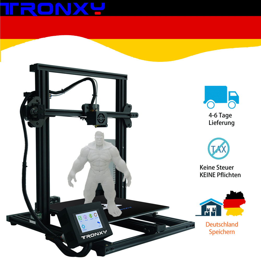 2019 Newest Full metal 3D Printer Tronxy XY 3 Fast Assembly Magnetic Heat Paper 310*310mm hotbed 0.25KG PLA Filament as gift|3D Printers| |  - title=
