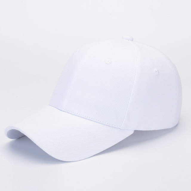 Zency Dropshipping Cotton Women Sun Caps Outdoor Ponytail Baseball Cap Lady Hats Summer Black White