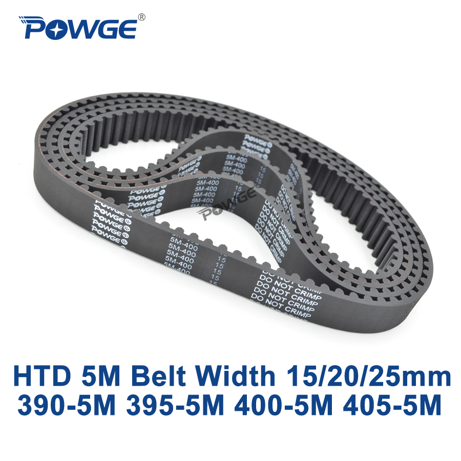 POWGE HTD 5M Timing belt C=390/395/400/405 width 15/20/25mm Teeth 78 79 80 81 HTD5M synchronous Belt 390 5M 395 5M 400 5M 405 5M|htd 5m timing belt|synchronous belt|5m timing belt - title=