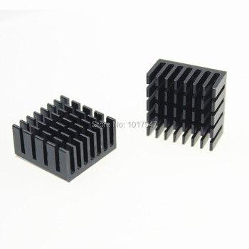 цена на 5 Pieces LOT IC Chipset 20mm x 20mm x 10mm Chip Radiator Aluminum Heatsink Black