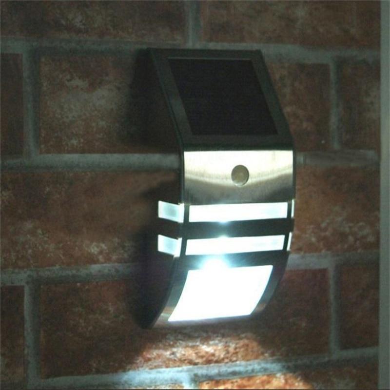 Luz De LED Solar Light Panel Powered Human Body Motion Sensor Wall Lamps Sconce Lights Christmas Garden Outdoor Decoration ds 360 solar sensor led light black
