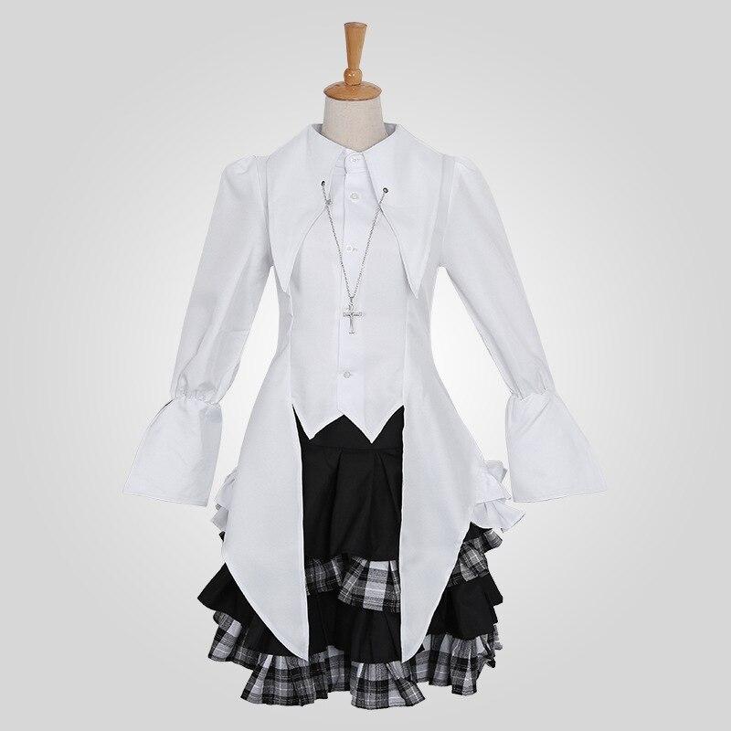 [STOCK] 2018 Anime dans la solitude Sora Lolitashion robe Cosplay Costume chemise + robe + collier pour les femmes Hallowmas livraison gratuite nouveau