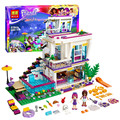 619 Pcs Bela 10498 Pop Star Casa das Amigas Série Livi Andrea Building Blocks Toy Compatível com Brinquedos Amigos