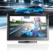 5 дюймов авто Мониторы TFT ЖК-дисплей HD цифровой 5:3 800*480 Экран Дисплей заднего вида Обратный зеркало мониторы
