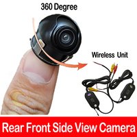 Wireless SONY CCD Chip Car SUV MPV rear reverse front side view camera 360 degree Rotation Panoramic Universal All Fit Mount