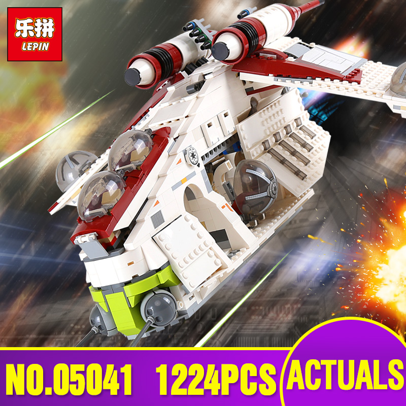 Lepin 05041 05152 Star Series The Wars Republic Gunship Set Educational Building Blocks Bricks Toys as Legoing 75021 Gift 75251 lepin legoing 75021 1224pcs star series wars the republic gunship building blocks brick educational toys for children 05041