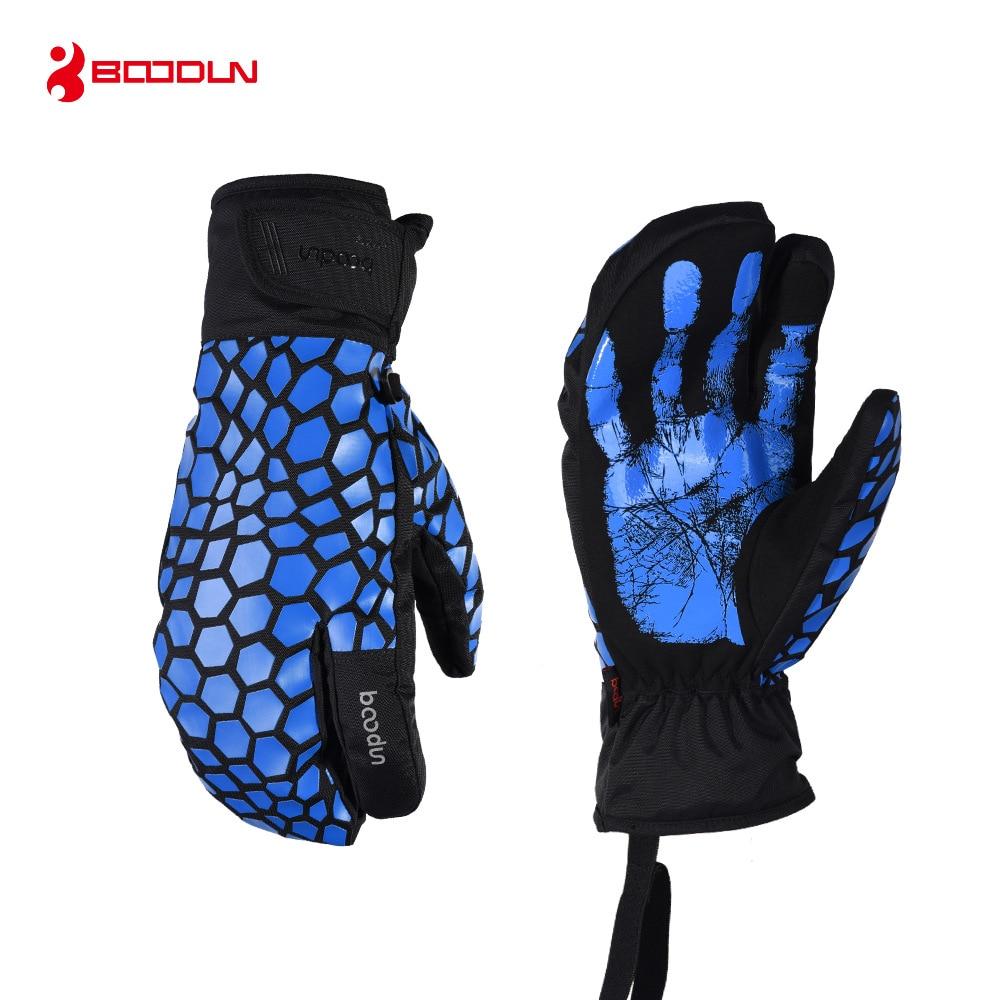 Boodun Ski Gloves Snowboard Snowmobile Motorcycle Winter Skiing Gloves Waterproof Windproof Touch Screen Warm Snow Gloves