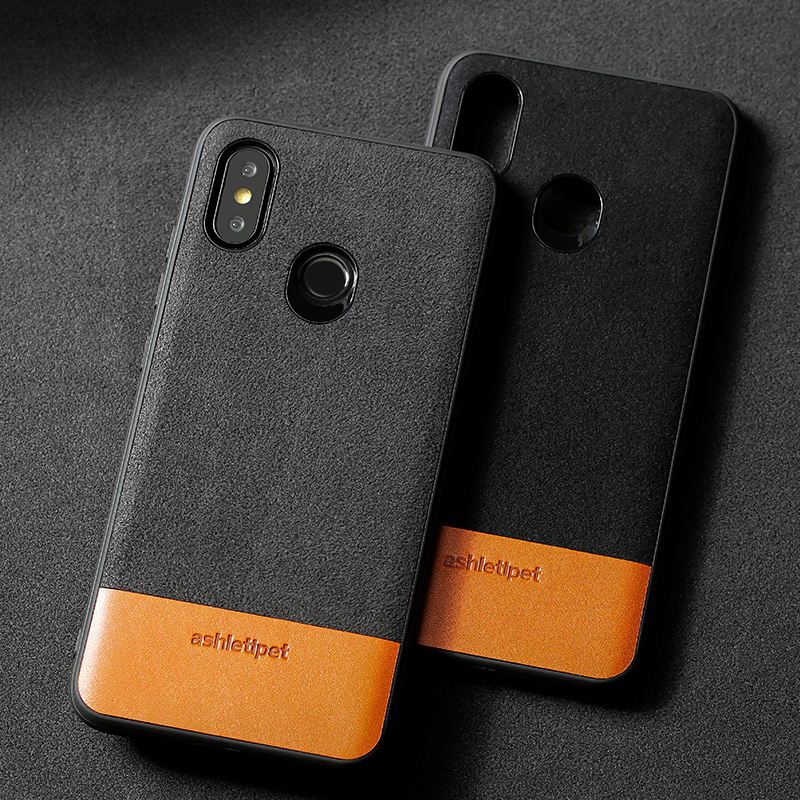 Genuine leather Phone Case For Xiaomi Mi 6 8 SE 8 Explorer 6X A2 Mix 2s Max 3 Soft TPU Edge Cowhide & Suede Stitching Back Cover