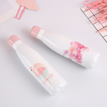 Flamingo Floral Water Bottle Insulated Cup Stainless Steel Beer Tea Coffee Drink Travel Sport Vacuum Flask Thermos