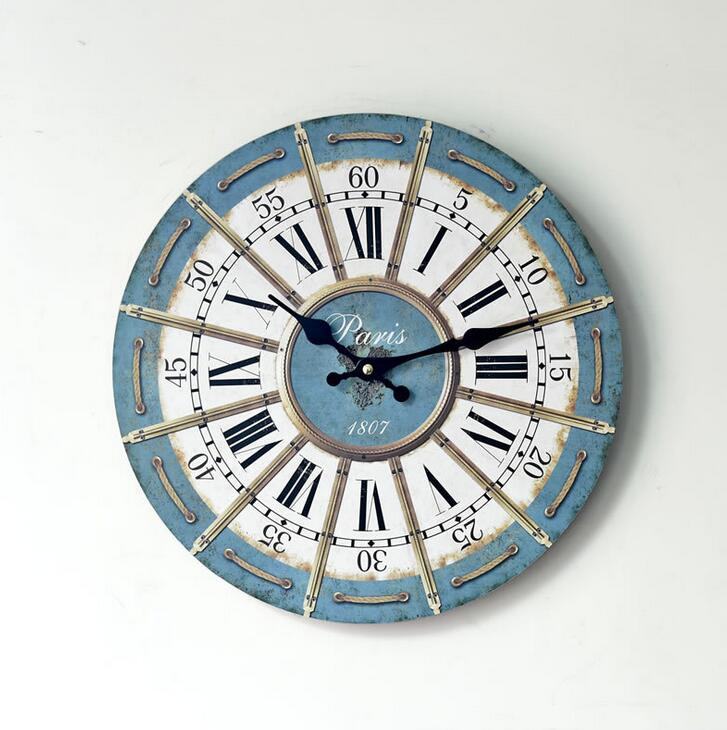 Vintage Creative Roman Pattern Wood Digital Wall Clocks Home Office  Decoration 35*35CM Round In Wall Clocks From Home U0026 Garden On  Aliexpress.com | Alibaba ...